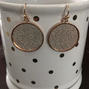 Jewelry - Sparkles Rose Gold French Wire earrings